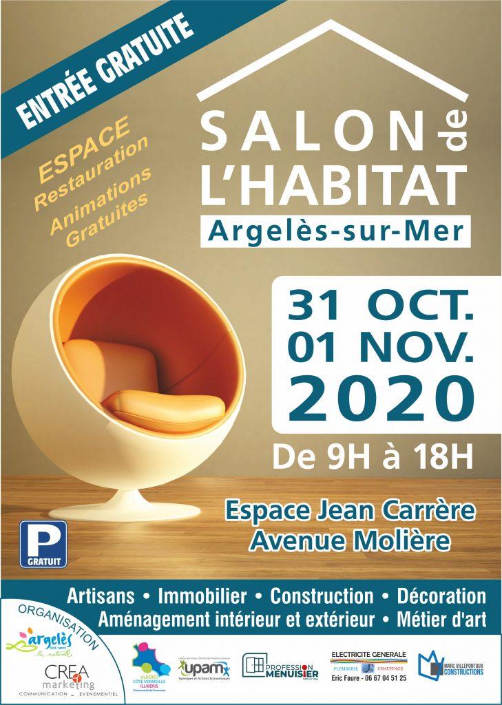 Salon de l'habitat d'Argeles sur Mer 2020. Entrée gratuite les 31 Oct et 1er Nov 2020